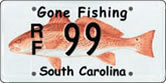 Gone Fishing Licenses Plate