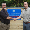 Waterboro Bin opening with Fred Harvey of Leadership Colleton and Ben Dyar, Oyster Shell Recycling Program Manager